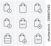 line icons style shopping bag...