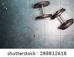 dumbbell exercise weights on... | Shutterstock . vector #288812618