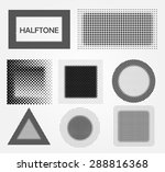 halftone backgrounds.halftone... | Shutterstock .eps vector #288816368