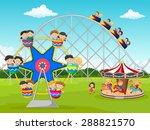 cartoon little kid in the... | Shutterstock .eps vector #288821570