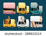 vehicles  icons | Shutterstock .eps vector #288823214