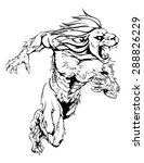 a lion man character or sports... | Shutterstock . vector #288826229