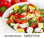 fresh summer salad in bowl | Shutterstock . vector #288827018
