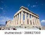 Facade Of The Parthenon Temple...