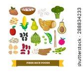 fiber rich foods set ...   Shutterstock .eps vector #288834233