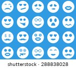 smile and emotion icons. vector ... | Shutterstock .eps vector #288838028