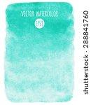 mint green gradient watercolor... | Shutterstock .eps vector #288841760