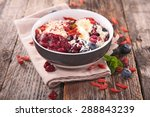 smoothie bowl with berry | Shutterstock . vector #288843239