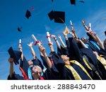 high school students graduates... | Shutterstock . vector #288843470