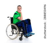 young man in a wheelchair in... | Shutterstock . vector #288853496