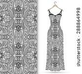 vector fashion illustration ... | Shutterstock .eps vector #288864998