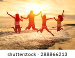 group of happy young people... | Shutterstock . vector #288866213