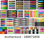colorful modern text box... | Shutterstock .eps vector #288872858