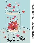 heart in the jar | Shutterstock .eps vector #288880196