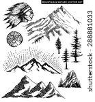 nature mountain vector... | Shutterstock .eps vector #288881033