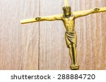 Brass  Cross With Crucified...