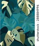 leaves   Shutterstock .eps vector #288884996