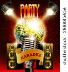 karaoke party  background with... | Shutterstock .eps vector #288885656