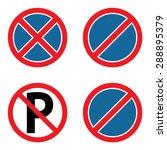 no parking sign set | Shutterstock .eps vector #288895379