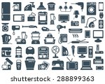 household appliances icons | Shutterstock .eps vector #288899363