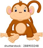 cute monkey cartoon | Shutterstock .eps vector #288903248