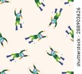 diver   cartoon seamless... | Shutterstock . vector #288903626
