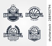 collection of sport basketball... | Shutterstock .eps vector #288903794