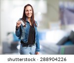 woman with credit card | Shutterstock . vector #288904226
