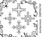ornament baroque corners set on ... | Shutterstock .eps vector #288906740