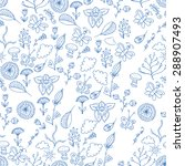 ornate floral seamless texture  ... | Shutterstock .eps vector #288907493