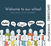 leaflet illustration of a group ... | Shutterstock .eps vector #288907640