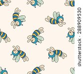 bee cartoon   cartoon seamless... | Shutterstock . vector #288909530
