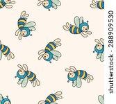 bee cartoon   cartoon seamless... | Shutterstock . vector #288909530