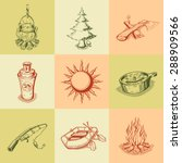 set of camping icons.  | Shutterstock .eps vector #288909566