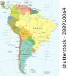south america map   highly... | Shutterstock .eps vector #288910064