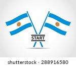 argentina emblem crossed flags...   Shutterstock .eps vector #288916580