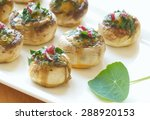 stuffed mushrooms filled with...