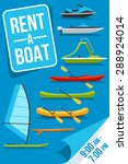 colorful vector poster for boat ... | Shutterstock .eps vector #288924014