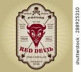 vintage retro red devil label | Shutterstock .eps vector #288925310