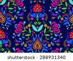 seamless floral folk pattern.... | Shutterstock .eps vector #288931340