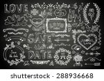 set of wedding ornaments and... | Shutterstock .eps vector #288936668