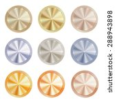 vector set of blank centric... | Shutterstock .eps vector #288943898