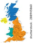 colorful united kingdom...   Shutterstock .eps vector #288945860