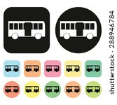 bus icon. car icon. vechicle... | Shutterstock .eps vector #288946784