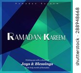 ramazan kareem  ramadan kareem  ... | Shutterstock .eps vector #288948668