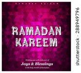 ramazan kareem  ramadan kareem  ... | Shutterstock .eps vector #288949796
