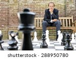 concentrated man  thinking... | Shutterstock . vector #288950780