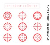 collection of vector targets... | Shutterstock .eps vector #288951149
