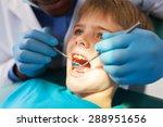 african male dentist examining... | Shutterstock . vector #288951656