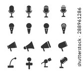mic icon set | Shutterstock .eps vector #288961286